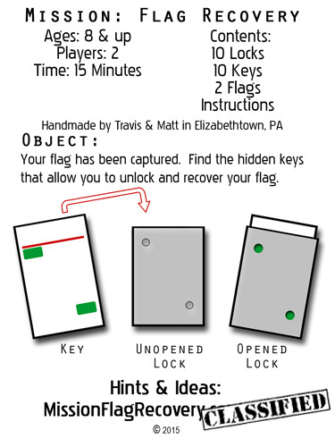 instructions contents game pieces
